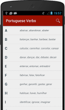 Portuguese Verb Conjugator for iOS and Android