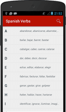 Les Verbes Espagnol Ios Et Android